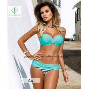 2017 Hot Sale European Sexy Swimwear Plain Fashion Ladies Bikini pictures & photos