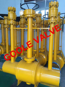 Full Bore Discharging Type Fully Welded Ball Valve (GAQ61PPL) pictures & photos