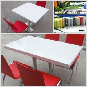 Solid Surface Modern Restaurant Resin Table Top pictures & photos
