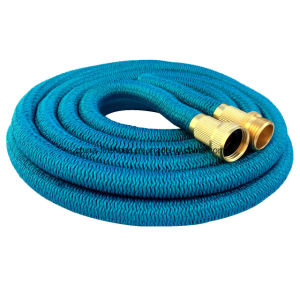 Best Selling on Amazon/Ebay Elastic Hose Blue Lightweight Expandable Garden Hose + 7 Function Spray Nozzle pictures & photos