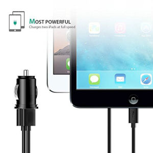 4.8A Dual Port USB Car Charger - Black pictures & photos