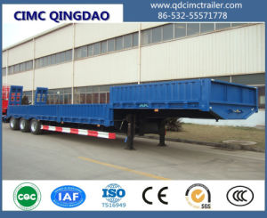 Cimc 3 Axles Low Boy Truck Trailer with Jost Landing Gear Truck Chassis pictures & photos