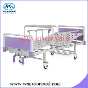 Best Quality ABS Two Function Manual Hospital Bed pictures & photos