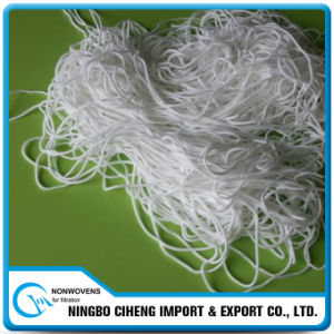 China Supplier Custom 2.5mm Wide White Colour Round Braided Elastic Band pictures & photos