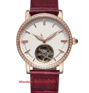 Special Designing Automatic Women′s Watches with Genuine Leather Strap Fs613 pictures & photos