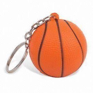 PU Stress Basketball Keychain Toy