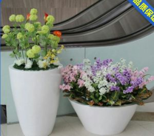 Stainless Steel Hardware with Floor Flower Pots for Hotel and Apartment Project pictures & photos