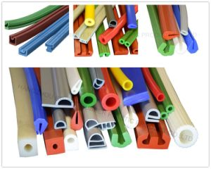 Food Grade Silicone Extruded Solid Profile pictures & photos