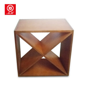 Diamond Bin Modern Kitchen Cube Wooden Wine Rack pictures & photos