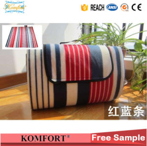Polyester Promotional Comfortable Picnic Mat, Travel Polar Fleece Blanket with Handle pictures & photos