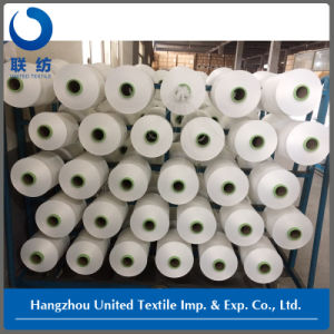 100% Polyester Raw White Yarn (with 150d/48f SD NIM) DTY for Jeans pictures & photos