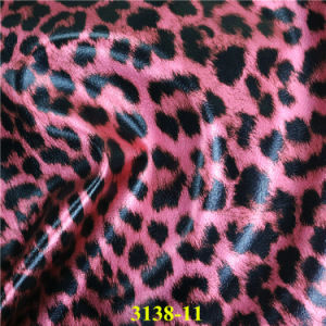 fashion Leopard Grain Synthetic PU Leather for Footwear Manufacturing pictures & photos