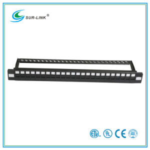 24 Port UTP Blank Patch Panel with Back Bar pictures & photos
