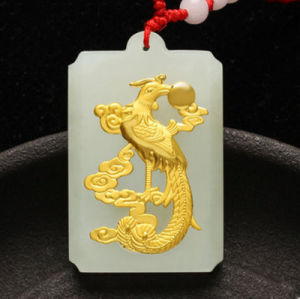 Gold Jade Dragon and Phoenix Matching Pieces pictures & photos