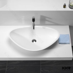 Hot Sale Modern White Solid Surface Bathroom Wash Basin pictures & photos