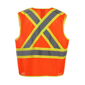 High Visibility Reflective Fluorescent Safety Mesh Vest pictures & photos