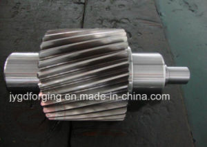 SAE1045 Forging Steel Worm Turbine Shaft pictures & photos