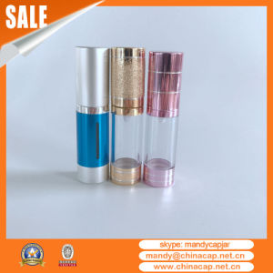 Luxury Cylinder Plastic Airless Serum Pump Bottle pictures & photos