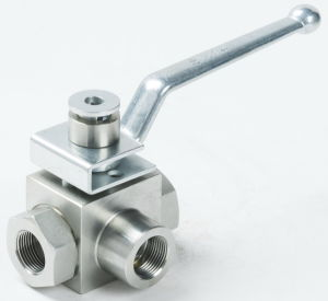 3way High Pressure Carbon Steel Ball valve pictures & photos