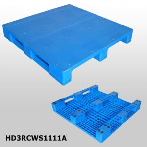 Low Price 3 Skids Solid Deck Sigle Face Plastic Pallet pictures & photos
