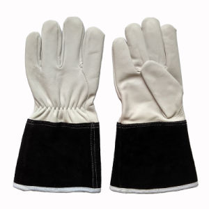 Goat Grain Leather Industrial Safety TIG Welding Gloves pictures & photos