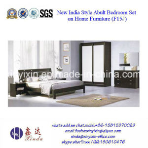Customized Wooden Double Bed Home Bedroom Furniture (SH-015#) pictures & photos
