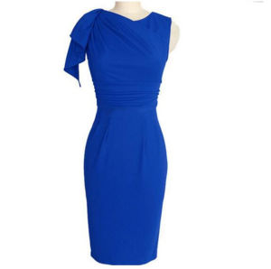 Hot Sale Woman Fashion Sleeveless Bodycon Evening Dress (17004) pictures & photos
