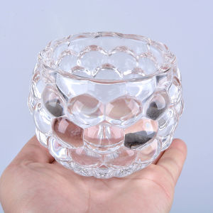 Cup Shape Crystal Glass Candle Holder for Decoration pictures & photos