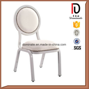 Round Back Red and White Stripe Fabric Dining Chairs pictures & photos
