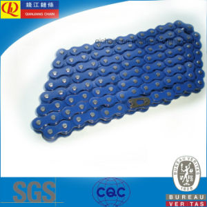 High Quality Standard Motorcycle Chain with Blue Color pictures & photos