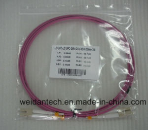 LC-LC Multimode Duplex Om3 3m 50/125 Fiber Optic Patch Cord pictures & photos