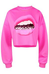 Wholesale High Quality Custom Sublimation Fashion Black Sweatshirt (ELTHI-121) pictures & photos