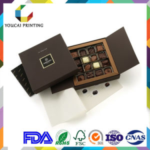 Factory Cheap Lip and Base Chocolate Box with Divider Insert