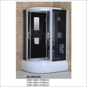 Revsible Corner Steam Shower Box with Sliding Door pictures & photos