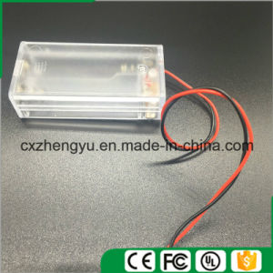 2AA Clear Battery Holder with Red/Black Wire Leads, Cover and Switch pictures & photos