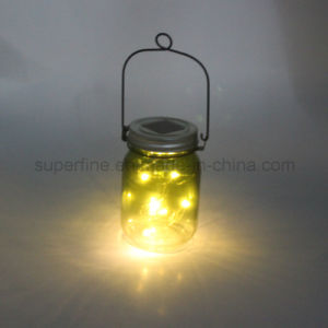 Hot Summer Product Rechargeable Glitter LED Mason Jar Solar Garden Light pictures & photos