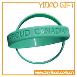 Promotional Silicone Wrist Band with Embossed Logo (YB-SW-21) pictures & photos