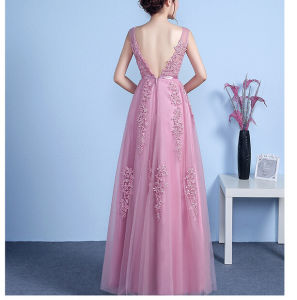 2017 Lace off-Shoulder Bridesmaid Evening Prom Dresses LA002 pictures & photos