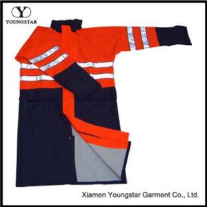 Waterproof Workwear Reflective Strip PU Long Raincoat pictures & photos
