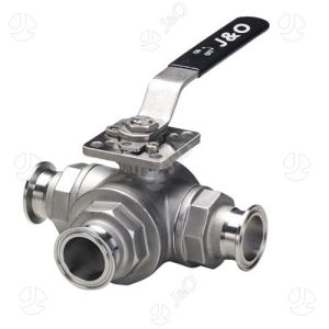 Three-Way T-Clamp Direct Mount Ball Valve pictures & photos