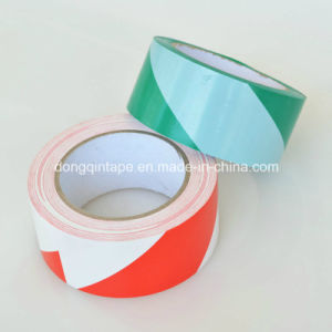 White-Red PVC Warning Marking Tape for Electrical Protection (48mm*20Y) pictures & photos