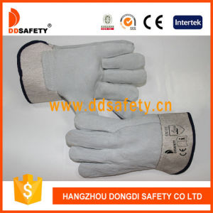 Ddsafety 2017 Natural Cow Split Glove All of Leather on Palm and Back pictures & photos