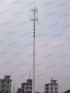 Customed Electric Hot-DIP Galvanized Telecom Monopole pictures & photos