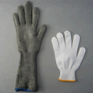 Metal Mesh Cut Resistant Level 5 Long Sleeve Glove-2359 pictures & photos
