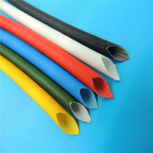 Heat Resistant Silicone Rubber and Fiberglass Braided Tubes/Sleeve pictures & photos