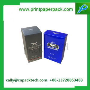 Matte Black Spot UV Hot Silver Stamping Paper Box for Cosmetic Packing pictures & photos