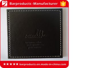 Factory Supply Blank Square Leather PU Coaster for Wholesale