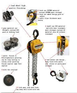 Mini Manual Chain Block for Lifting People pictures & photos