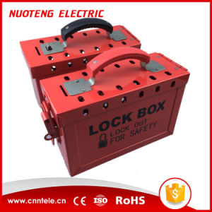 Portable Steel Group Safety Lockout Box Kits pictures & photos