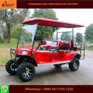 2017 New Model 6 Passenger Electric Hunting Golf Cart for Holiday Village pictures & photos